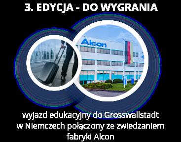 3. edycja - do wygrania wyjazd edukacyjny do Grosswallstadt w Niemczech połączony ze zwiedzaniem fabryki Alcon